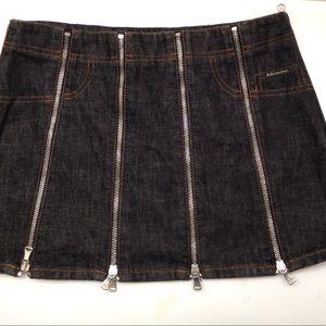 Dolce and Gabbana denim zipper skirt